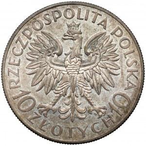PRÓBA 10 złotych 1933 Sobieski - b. rzadka