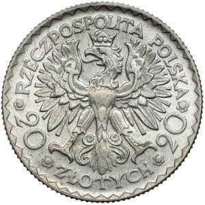 Próba 20 złotych 1925 Chrobry - NOWE SREBRO - rzadkość