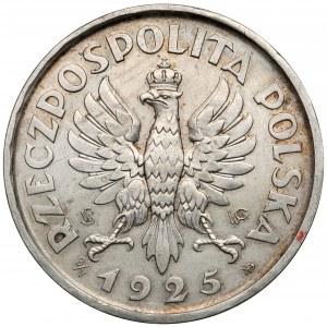 Konstytucja 5 złotych 1925 - monogramy SW i WG - b.rzadka