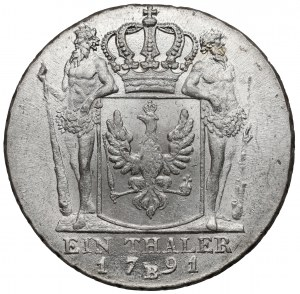 Śląsk, Fryderyk Wilhelm II, Talar 1791-B Wrocław