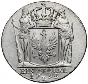 Śląsk, Fryderyk Wilhelm II, Talar 1792-B Wrocław