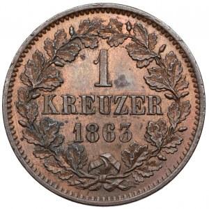 Baden, Friedrich I, Kreuzer 1863