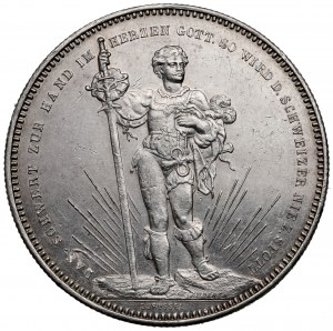 Switzerland, 5 francs 1879 - shooting competition
