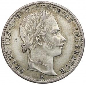Austria, Franciszek Józef I, 1/4 florena 1859-B, Kremnica