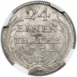 August III Sas, 1/24 talara 1754 L / EDC, Lipsk - THALER