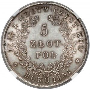 Powstanie Listopadowe, 5 złotych 1831 KG