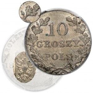 Powstanie Listopadowe, 10 groszy 1831 - łapy zgięte - HYBRYDA