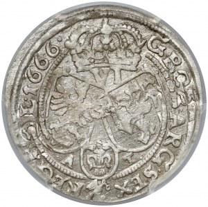 Jan II Kazimierz, Szóstak Bydgoszcz 1666 AT - b.ładny