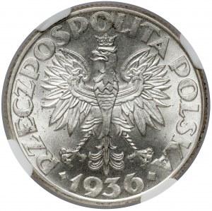 Żaglowiec 2 złote 1936 - PIĘKNE