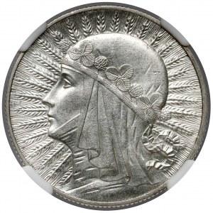 Głowa Kobiety 5 złotych 1932 bez znaku, Londyn