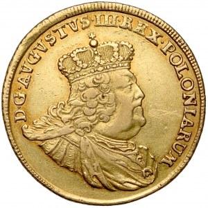 August III Sas, 10 talarów 1756 EC, Lipsk - RZADKIE