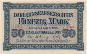 Kowno, 50 marek 1918