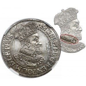 Zygmunt III Waza, Ort Gdańsk 1619 - KRZYŻE w kołnierzu - najrzadsza odmiana
