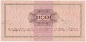 PEWEX, Przeróbka z 1$ na 100$ 1969 FD - fałszerstwo z epoki - czerwony