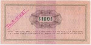 PEWEX, Przeróbka z 1$ na 100$ 1969 FD - fałszerstwo z epoki - zielony