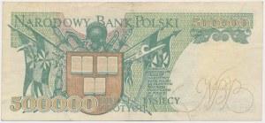 Falsyfikat z epoki 500.000 złotych 1990
