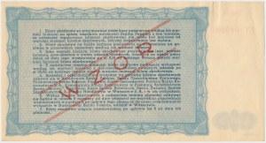 Bilet Skarbowy WZÓR Emisja I - 10.000 zł 1945