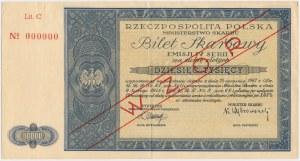 Bilet Skarbowy WZÓR Emisja IV, Seria I - 10.000 zł 1948