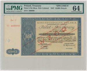 Bilet Skarbowy WZÓR Emisja III - 10.000 zł 1947