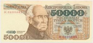50.000 złotych 1989 - H
