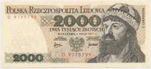 2.000 złotych 1977 - D