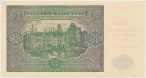 500 złotych 1946 - z nadrukiem X zjazd PTAiN