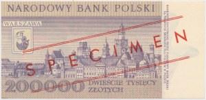200.000 zł 1989 - WZÓR - A 0000000 - No.0726