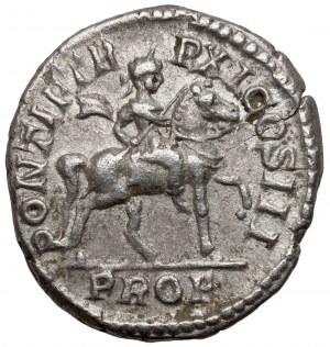 Karakalla (198-217 n.e.) Denar - Cesarz na koniu