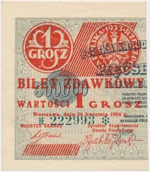 1 grosz 1924 - BE❉ - lewa połowa
