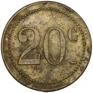 Belgium, Giraudon, Jeton - 20 centimes