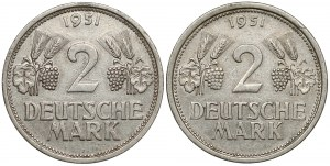 2 mark 1951 J und G (2szt)