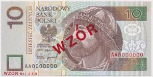 10 złotych 1994 - WZÓR - AA 0000000 - Nr 1889