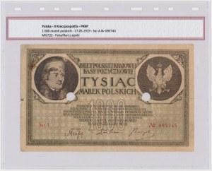 Fałszerstwo z epoki 1.000 mkp 1919 - Ser.A