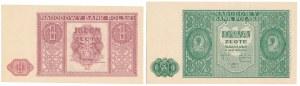 1 i 2 złote 1946 - zestaw (2szt)