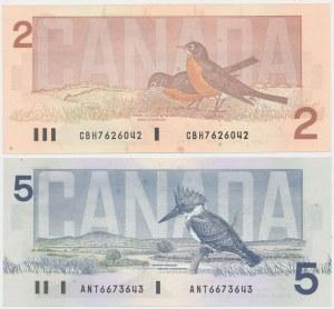 Canada, 2 i 5 Dollars 1986 (2pcs)