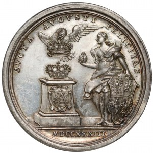 August III Sas, Medal wyboru na króla Polski 1733