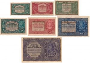 Zestaw marek do 1 tys 1919-1920 PIĘKNE (7szt)