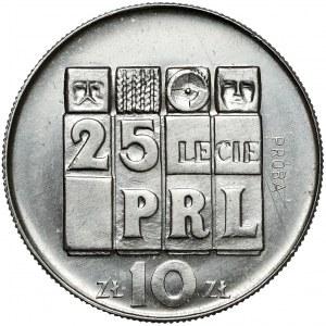 Próba NIKIEL 10 złotych 1969, 25-lecie PRL