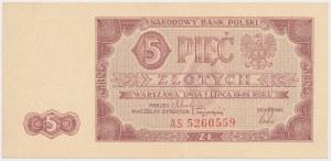 5 złotych 1948 - AS