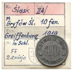 Greiffenberg (Gryfów), 10 fenigów 1919 - ex. Kałkowski