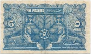 Egypt, 5 Piastres 1918
