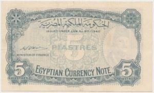 Egypt, 5 Piastres (1940)