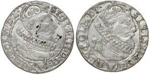 Zygmunt III Waza, Szóstaki Kraków 1626, zestaw (2szt)