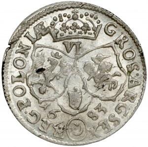 Jan III Sobieski, Szóstak Bydgoszcz 1683 TLB - Leliwa - PIĘKNY