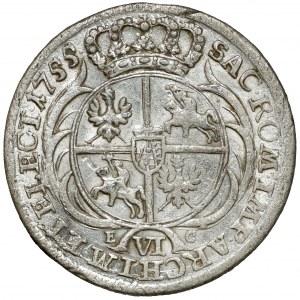 August III Sas, Szóstak Lipsk 1755 EC
