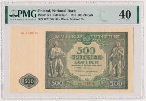 500 złotych 1946 - Dz - seria zastępcza