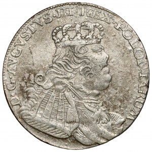 August III Sas, Ort Lipsk 1754 EC - buldogowate - cieniowany