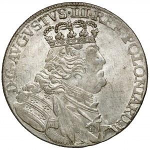 August III Sas, Ort Lipsk 1754 EC - w zbroi - b.ładny