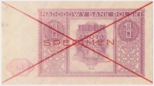 1 złoty 1946 - SPECIMEN