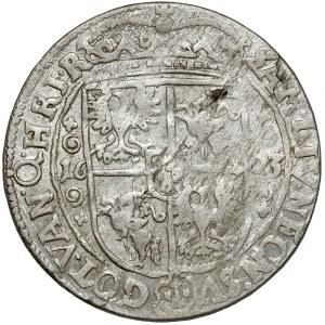 Zygmunt III Waza, Ort Bydgoszcz 1623 - PR M - labry z kwiatkami